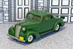 BRK 004 Brooklin 1/43 Chevrolet Coupe Hard Top 1937 green