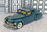 BRK DSX002 Brooklin 1/43 Lincoln Continental by Raymond Loewy Hard Top 1946 Green