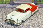 BRK 039X Brooklin 1/43 Oldsmobile Fiesta Conv.Top Up 1953 White/red (1)