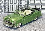 BRK 030A Brooklin 1/43 Dodge Royal 500 Conv.Top Down 1954 green  met.