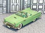 BRK 013A Brooklin 1/43 Ford Thunderbird Conv.Top Down 1957 green