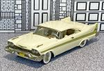 WMS 050 Western  Models 1/43 Plymouth Fury Coupe Hard Top 1958 white (1)