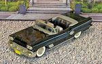 BRK 025 Brooklin 1/43 Pontiac Bonneville Conv.Top Down 1958 black (1)
