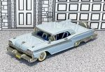 WMS 046 Western Models 1/43 Ford Galaxy Skyliner Hard Top 1959 light blue (1)