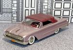BRK 037 Brooklin 1/43 Ford Sunliner Conv.Top Up 1960 lilac